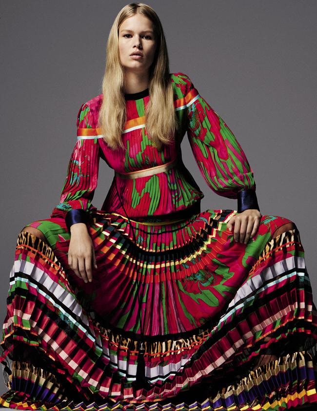 Платье из шелка и тюля, Roberto Cavalli