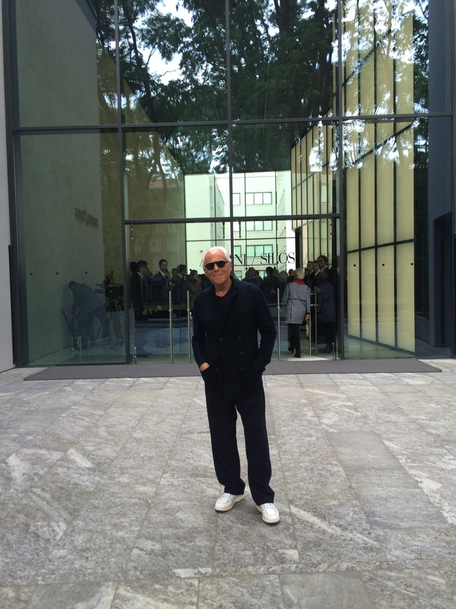 Mr Armani outside his Silos