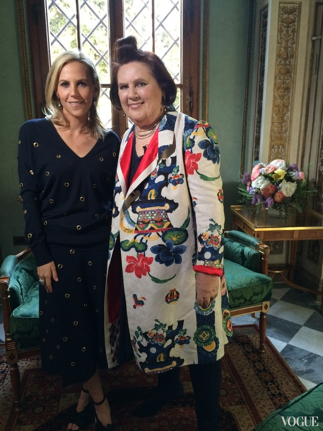 Suzy Menkes and Tory Burch