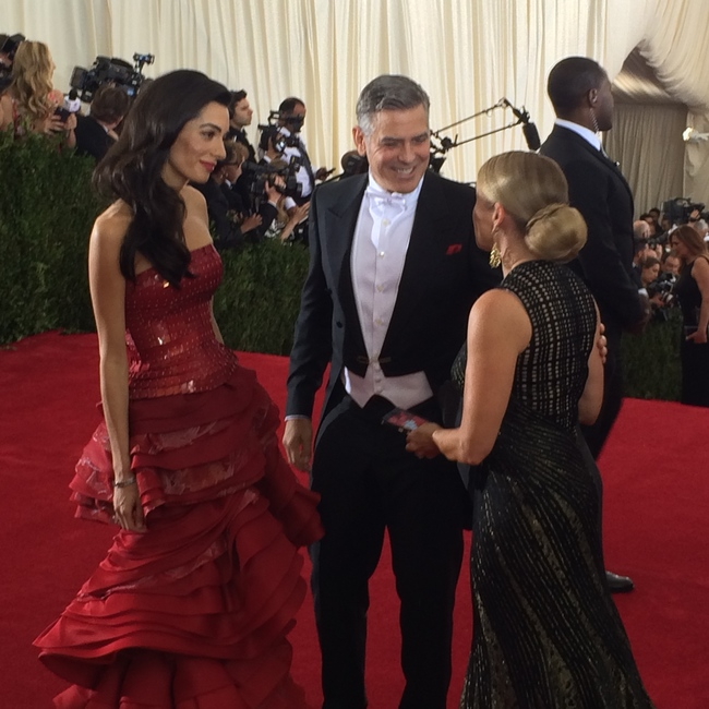 Amal Clooney wearing Margiela by John Galliano