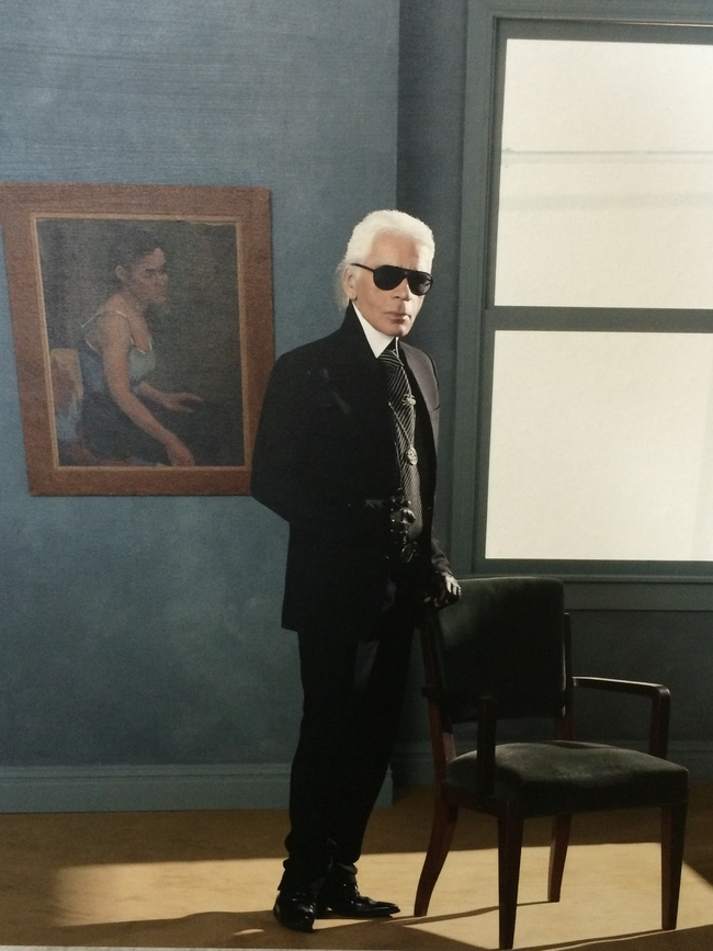 Karl Lagerfeld in one of only two images in the exhibition
