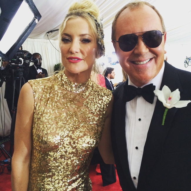 Kate Hudson wore Michael Kors and arrived with him too