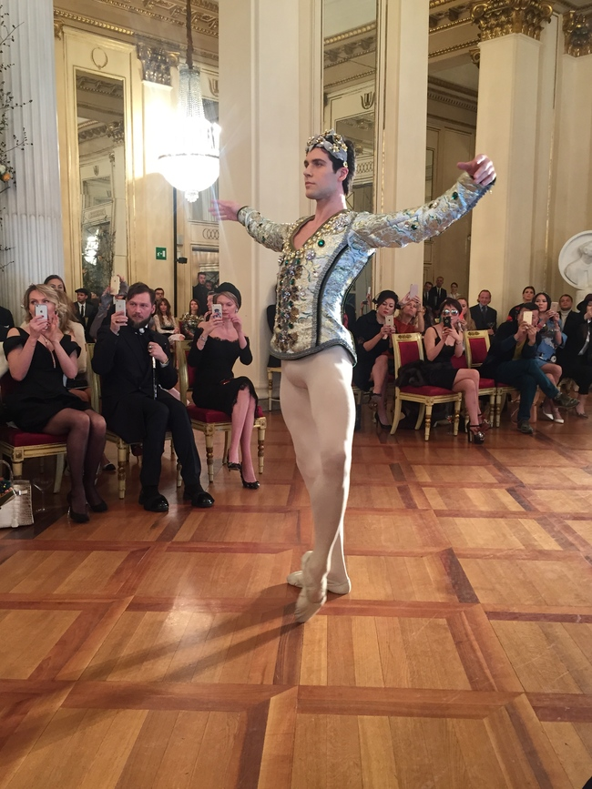 Principal dancer Roberto Bolle performs