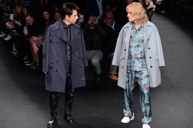Ben Stiller and Owen Wilson at Valentino show