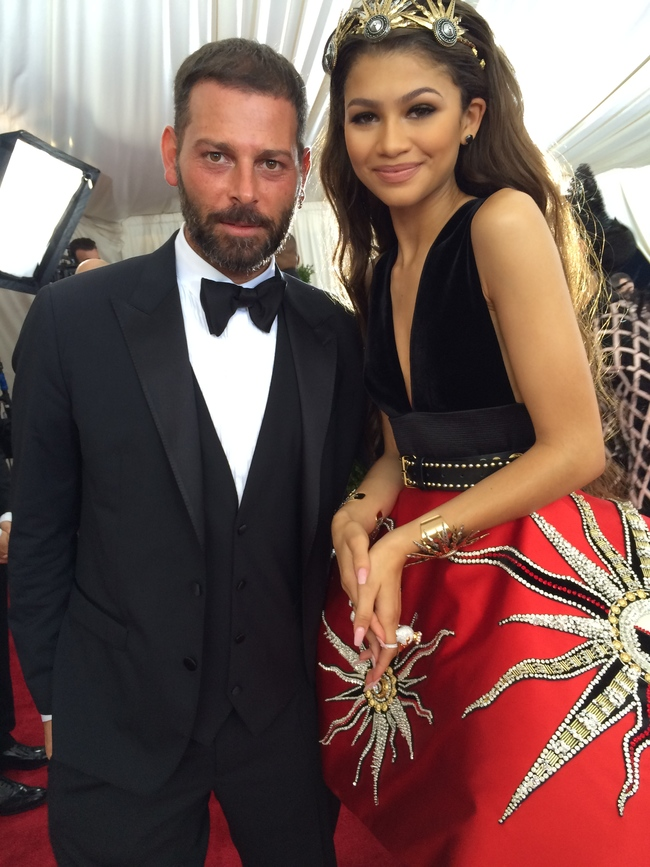 Fausto Puglisi with talent show star Zendaya Coleman
