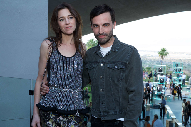 Charlotte Gainsbourg and Nicolas Ghesqui?re