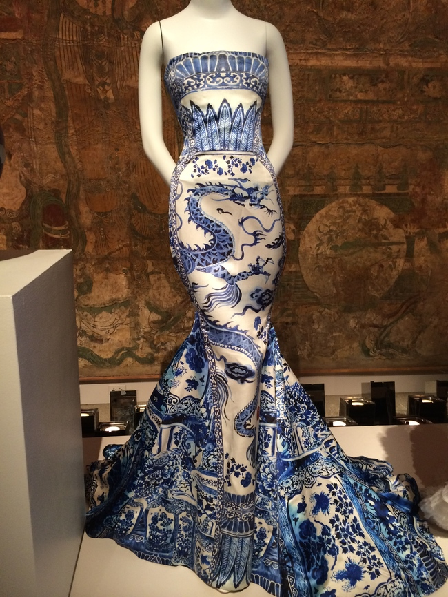 Satin evening dress by Roberto Cavalli A/W 2005/6