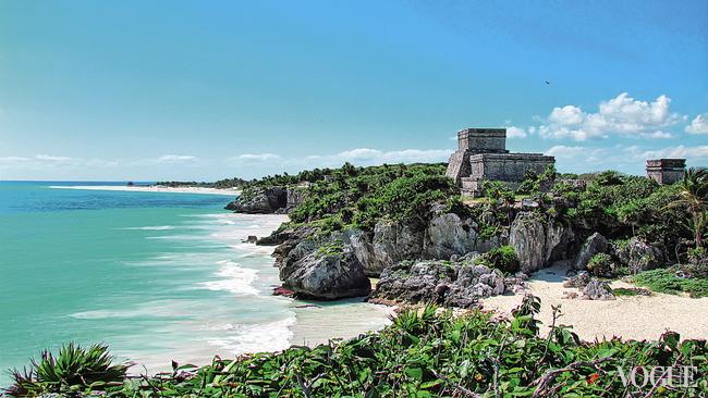 Тулум – древний город майя на берегу Карибского моря
