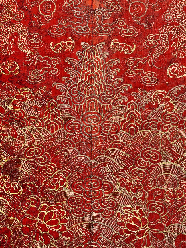 Detail of Festival Robe, Qing dynasty (1644–1911), 19th-century; The Metropolitan Museum of Art, Anonymous Gift, 1944