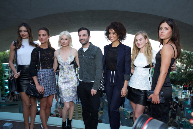 Miranda Kerr, Alicia Vikander, Michelle Williams, Nicolas Ghesqui?re, Nathalie Emmanuel, Britt Robertson and Adele Exarchopoulos all enjoy the cruise 2016 show