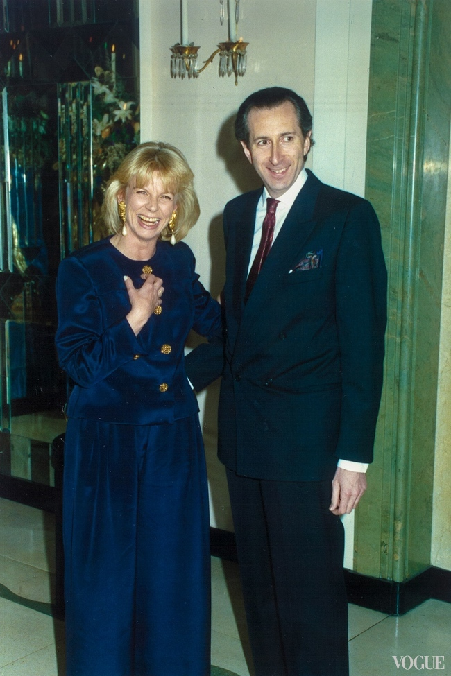 Annette Worsley-Taylor with designer Victor Edelstein