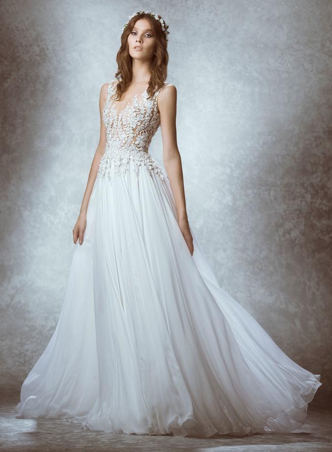 свадебные платья в пол прямые фото