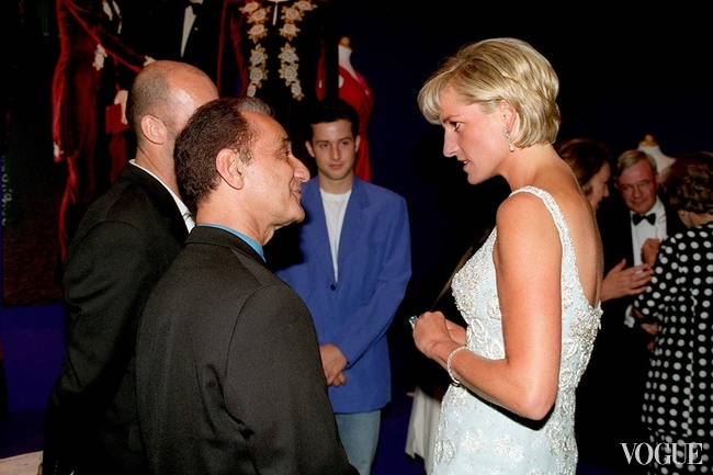 Designer David Sassoon of Bellville Sassoon and Princess Diana