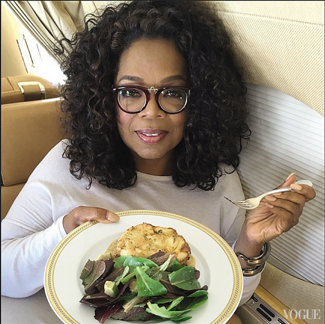 Еда для Опры Уинфри – это и досуг, и удовольствие, и искусство фотографии (@oprah)
