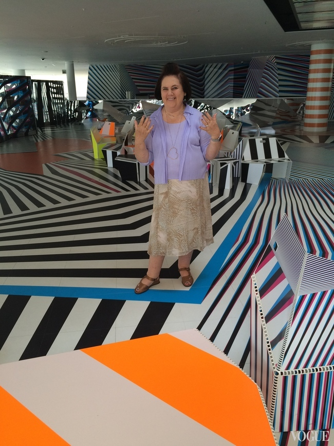 Suzy Menkes at the Leeum Samsung Museum of Art in Seoul
