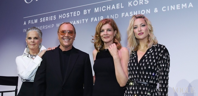 Ali MacGraw, Michael Kors, Rene Russo and Kate Hudson flew to London to discuss 'the role of fashion in American film over three decades'