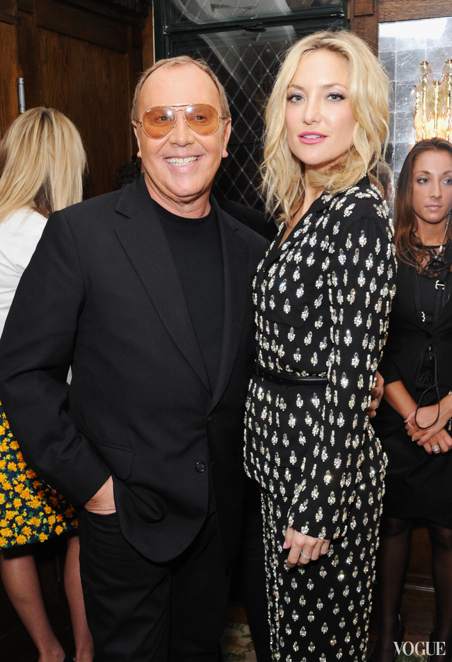 "Michael Kors and Kate Hudson at the ""Icons of Style"" dinner hosted by Michael Kors and Vanity Fair"