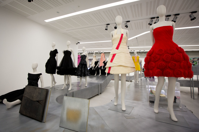 Maxxi Museum Bellissima exhibition with a red Valentino dress
