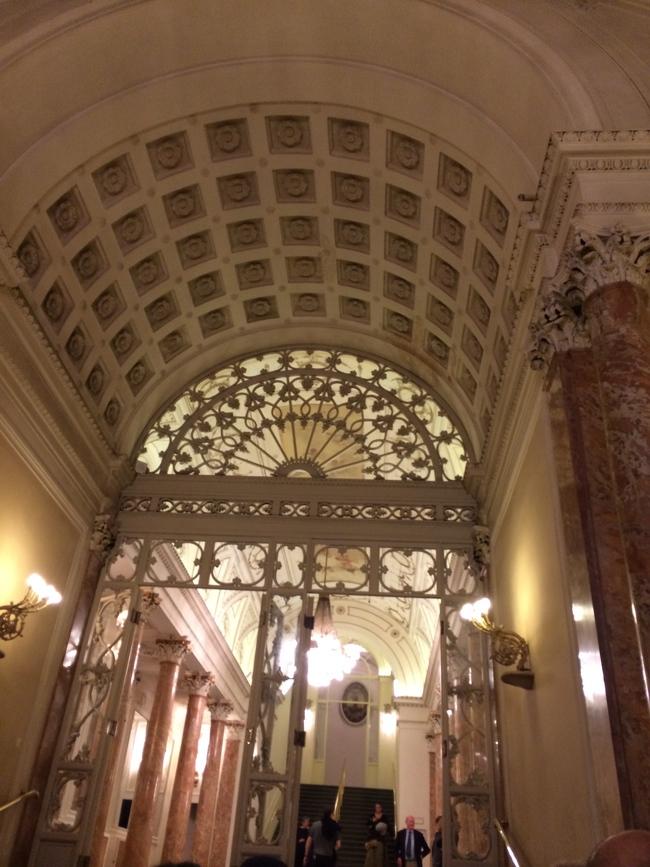 The ornate ceiling at Teatro della Pergola – the location for Cloakroom