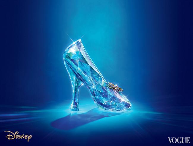 Cinderella slipper, made by Swarovski for the latest Disney remake. CREDIT Courtesy Disney 2015