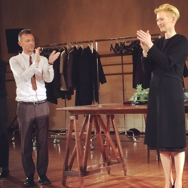 Tilda and Olivier take a bow