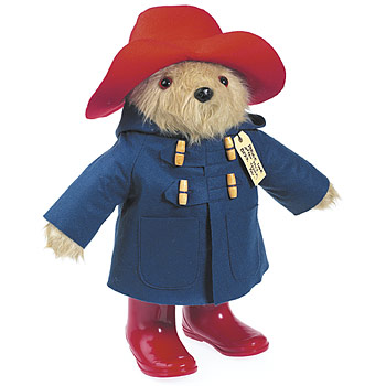 Paddington Bear with his famous wellingtons
