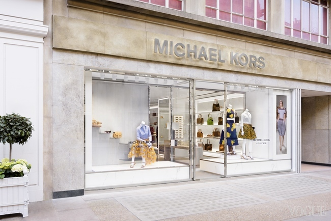 The new Michael Kors store on Sloane Street, SW1