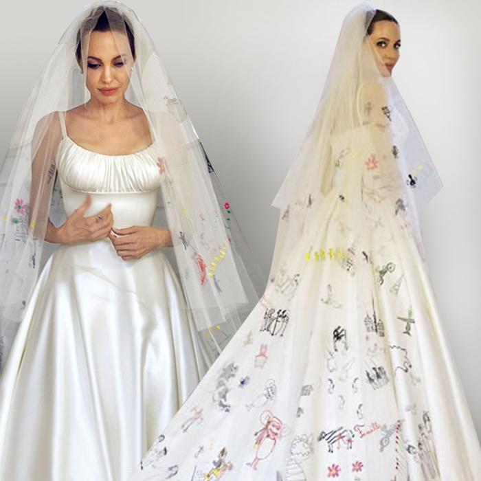 Анджелина джоли фото свадебного платья